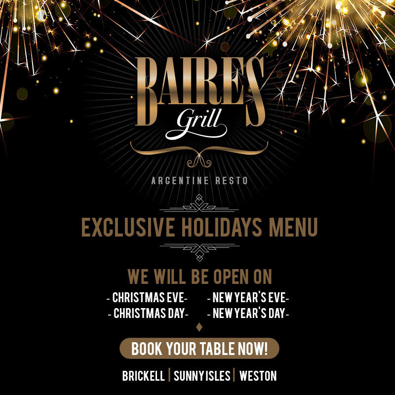 Exclusive holidays menu