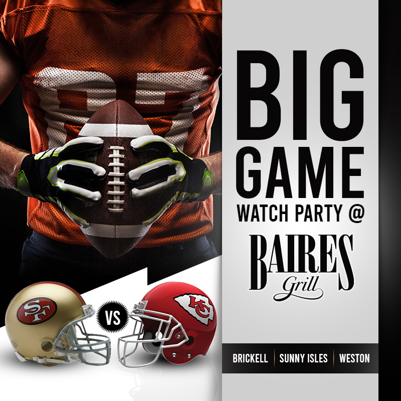 Big game watch party